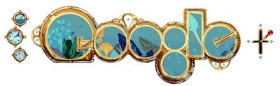 Google.com Jules Verne Homepage